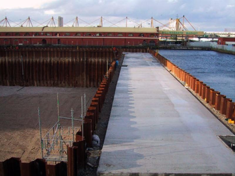 Bp1 Cofferdam Canary Wharf Dawson Wam