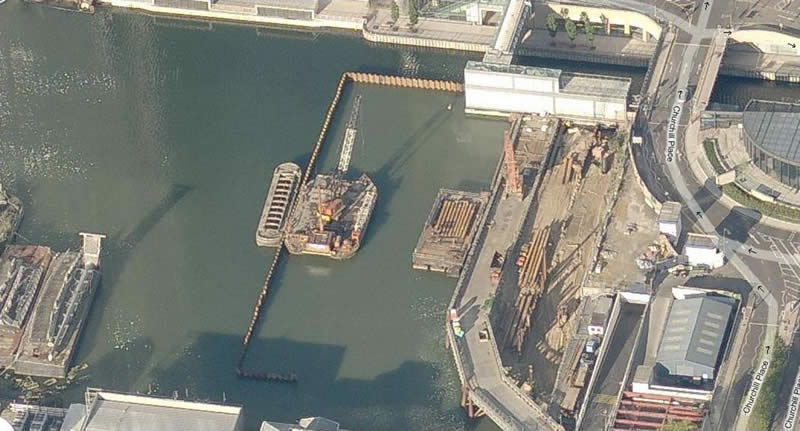 aLondon: BP4 Cofferdam, Canary Wharf