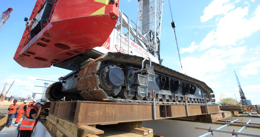 aLondon: Wood Wharf Temporary Platform