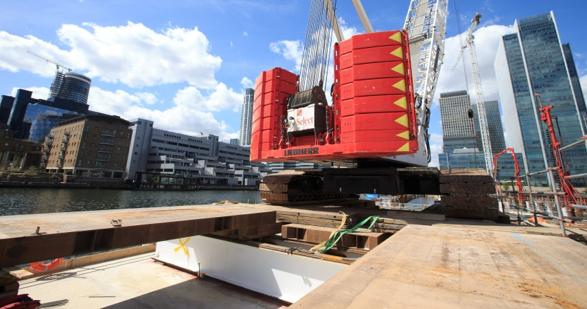 Wood Wharf Temporary Platform