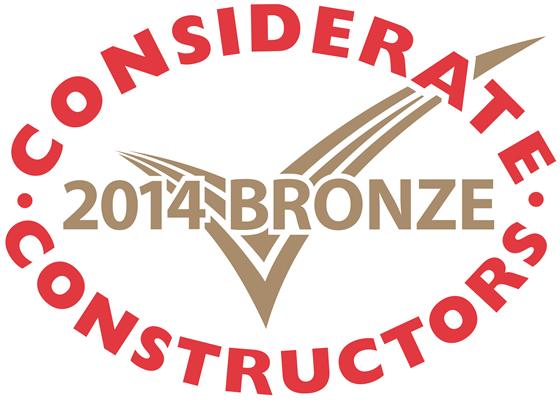 Bronze Considerate Constructors  Scheme National Site Award 2014
