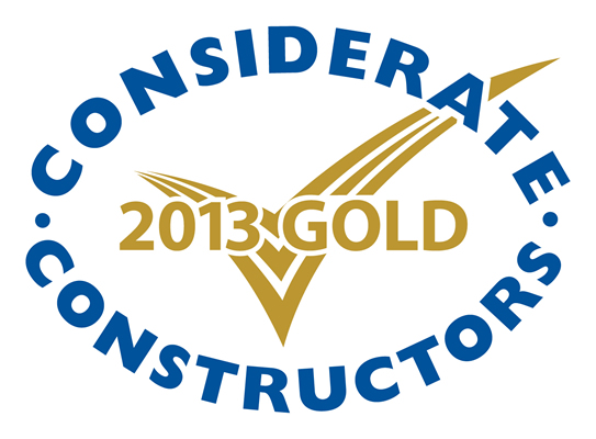 Gold Considerate Constructors Scheme National Company Award 2013