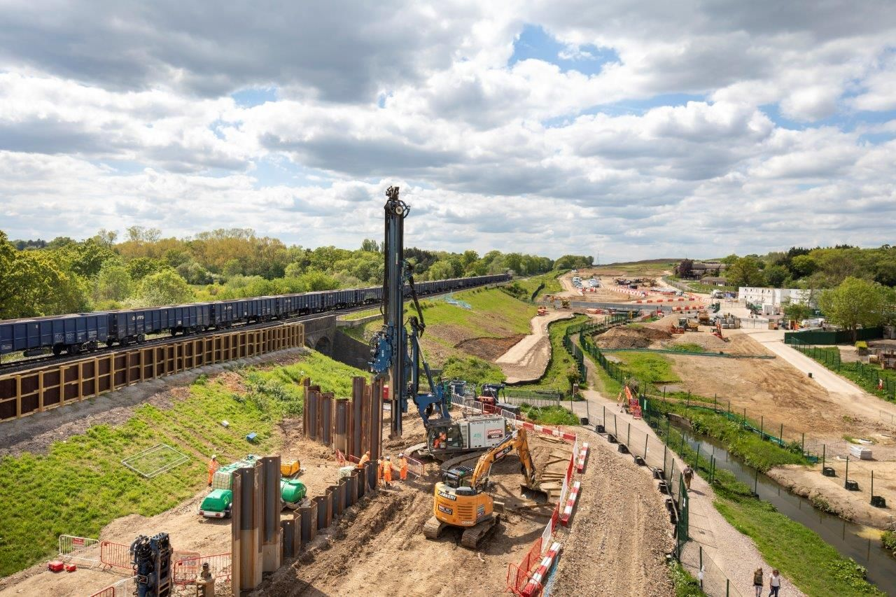 620 Linear metres of Sheet Piling Installed for HS2, West Ruislip