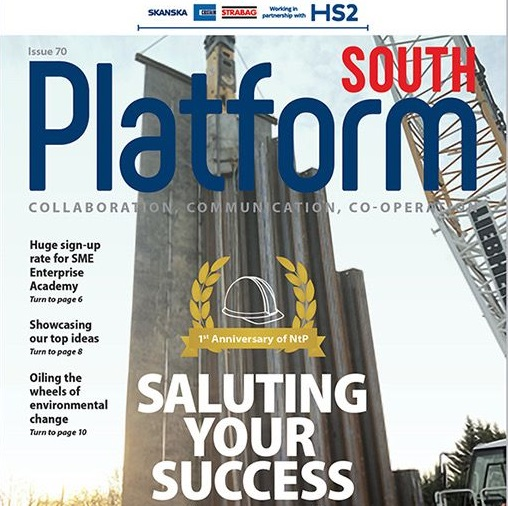 DAWSON-WAM Feature on the front page of Platform South Magazine… Again!