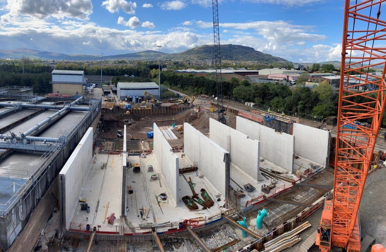Progress Pictures of £10M Belfast WwTW Extension