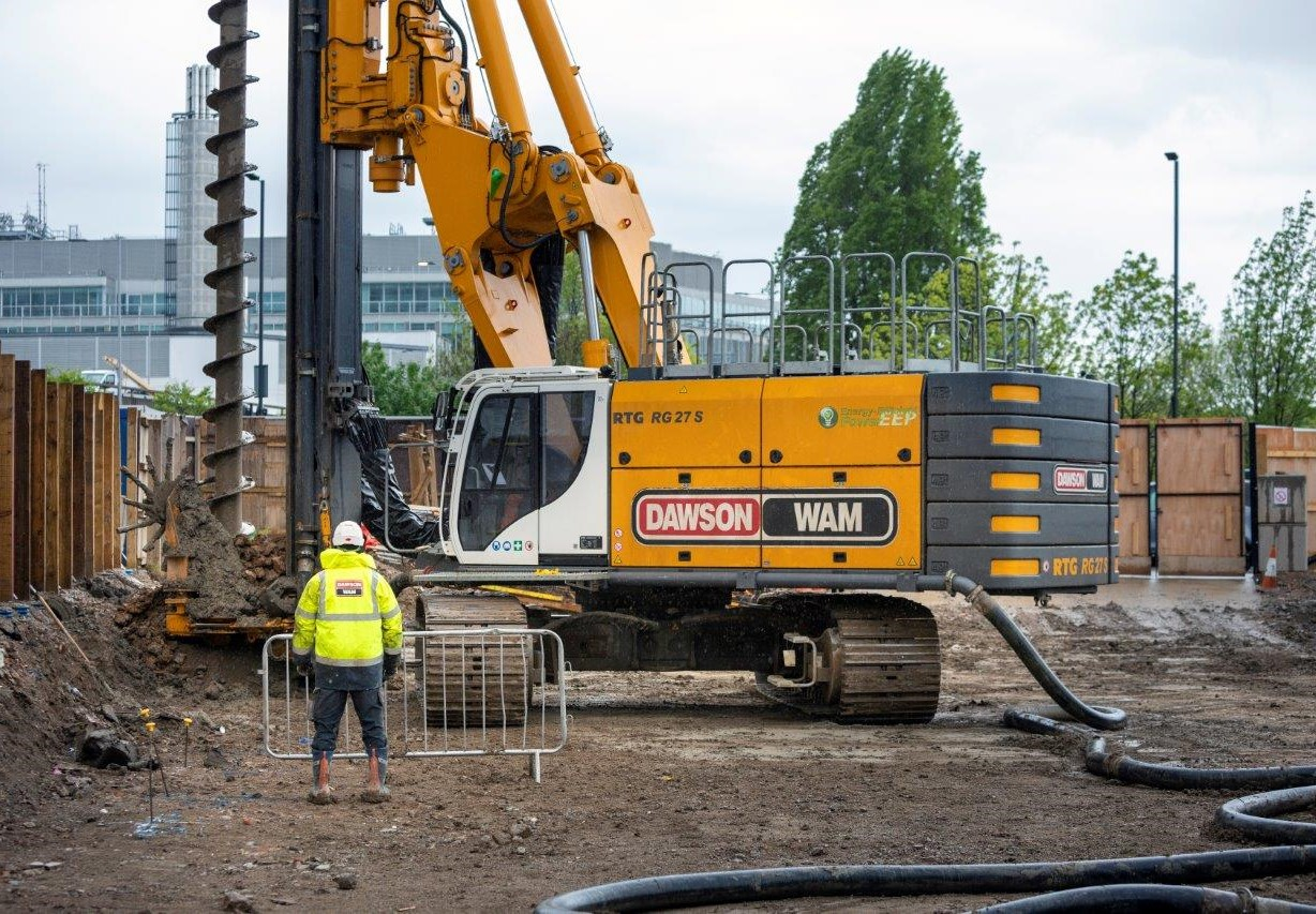 Secant basement piling commences at Imperial College London