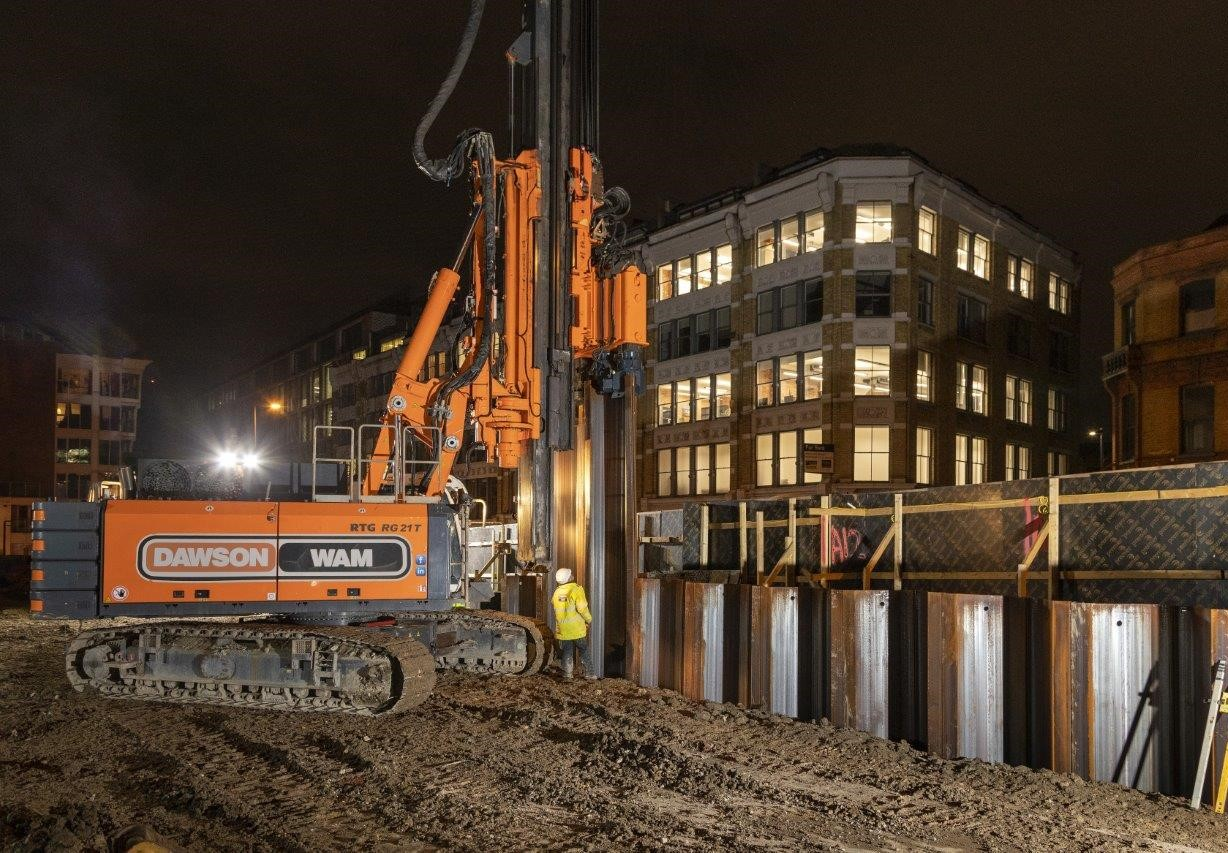 All Piling Works Completed In Premier Inn Farringdon