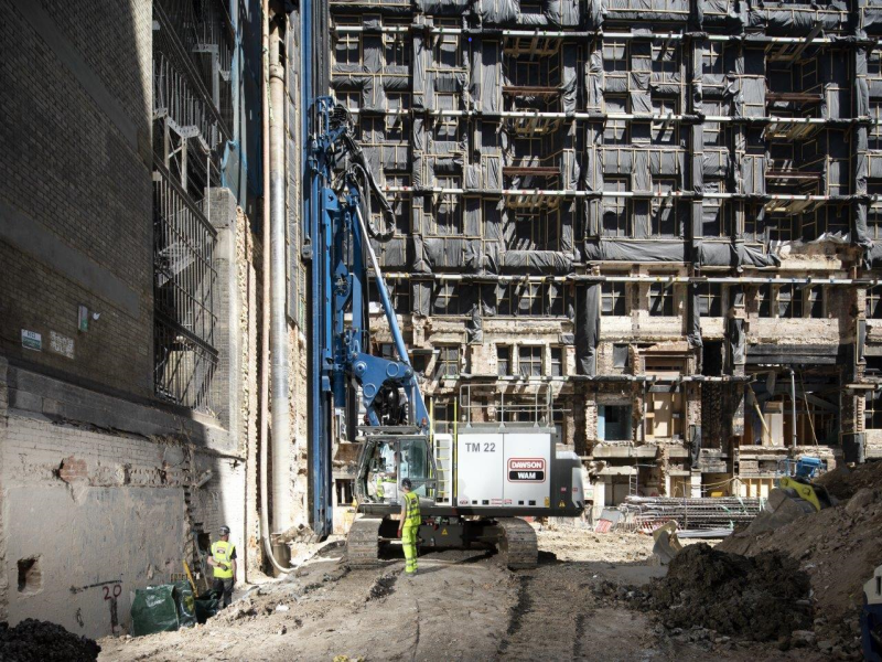 Secant Piling Complete in Central London
