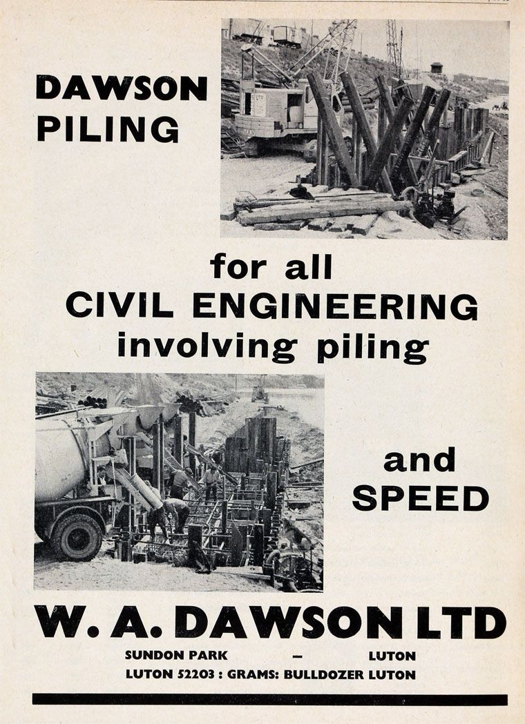 From the Archive: W.A. Dawson Installing Piles in the Mid-60s