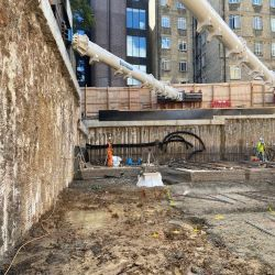 Secant Wall Exposed at White Lion Street, London