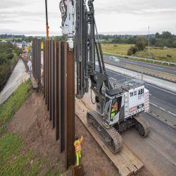 Existing Embankment Stabilisation on the M6 Smart Motorway
