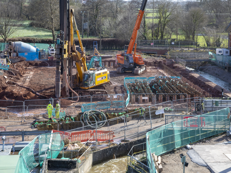Somerset: Durleigh WTW Secant Piling