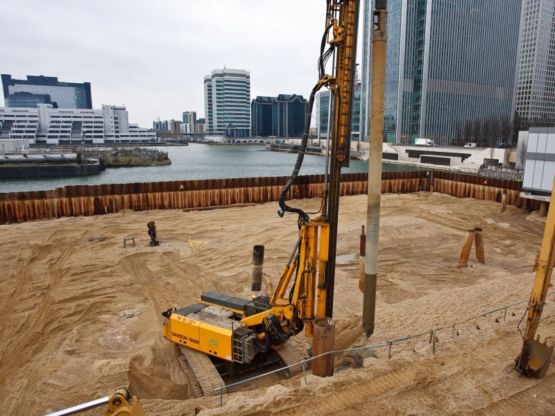 London: BP4 Cofferdam, Canary Wharf