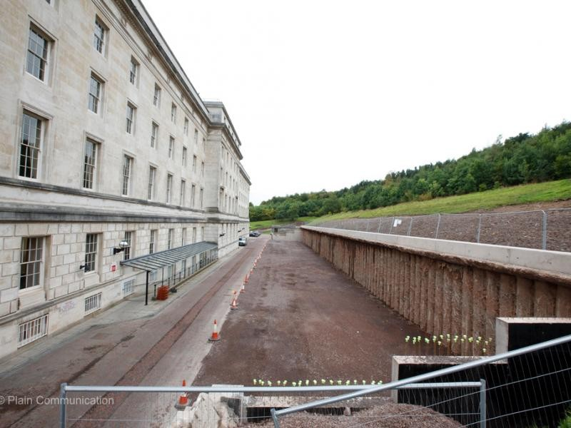 Belfast: Parliament Buildings Retaining Wall