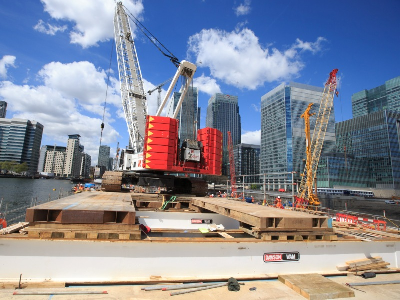 Wood Wharf Temporary Platform